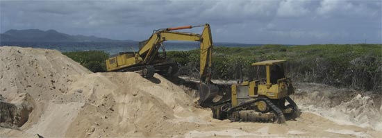 Anguilla excavation