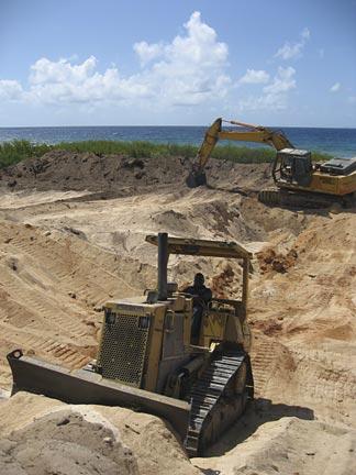 Anguilla building bulldozer