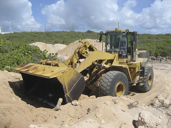 Anguilla front end loader