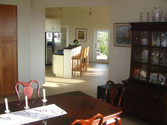 caribbean kitchen and dining room