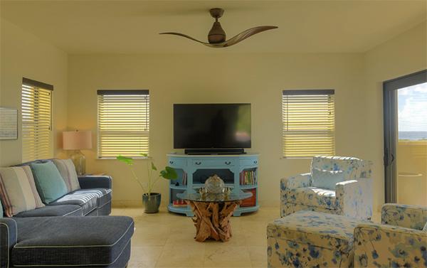 TV den inside moondance villa