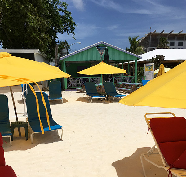 approaching uncle ernies beach bar on shoal bay, anguilla