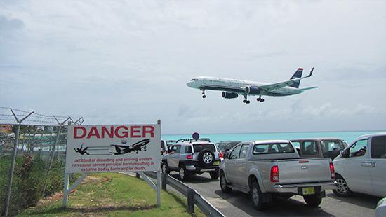 us airways landing princess juliana airport