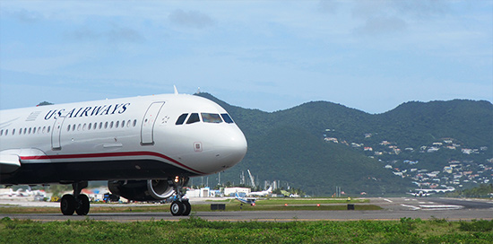 US airways at princess juliana airport SXM