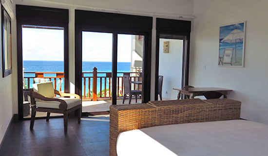 corner king room view at zemi beach