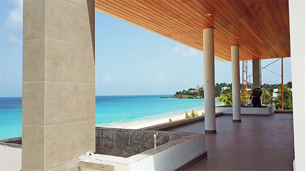 first floor terrace tranquility beach anguilla