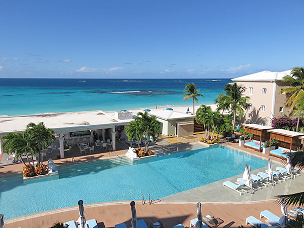 the shoal bay view from standard room at manoah