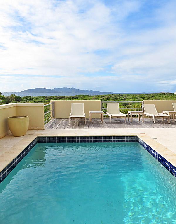 caribbean sea view from moondance villa