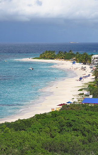 view of anguilla's shoal bay east beach from zemi beach resort