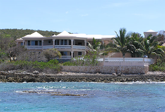 spacious anguilla villa on the searocks