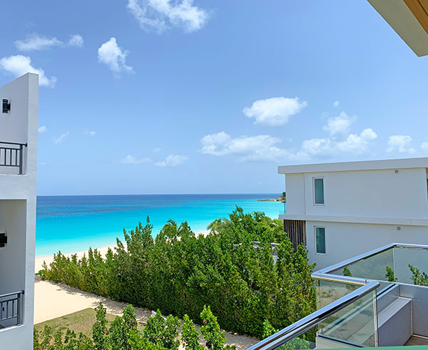 tranquility beach anguilla villa b eastern view