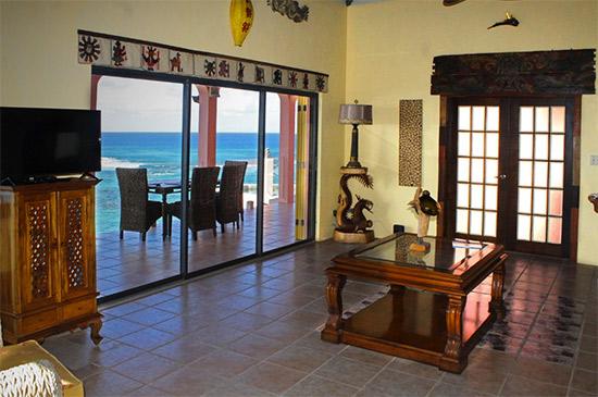 the living room at villa hibernia