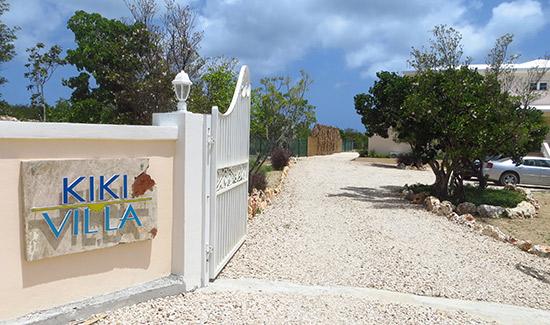 the entrance to kiki villa