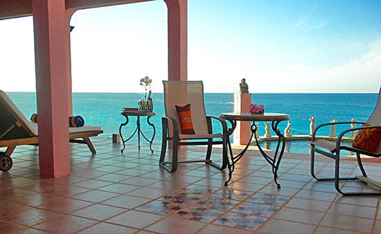 the caribbean sea blue from villa hibernia