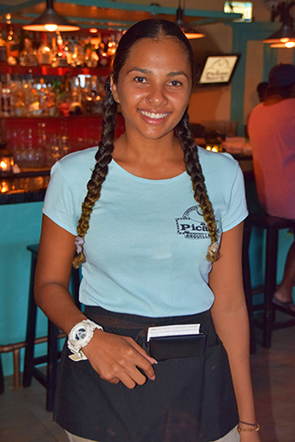 our lovely waitress for the night, jasmin