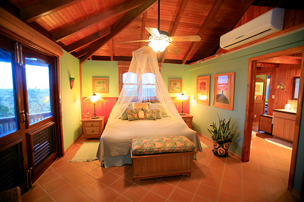 guest bedroom inside wesley house rental in anguilla