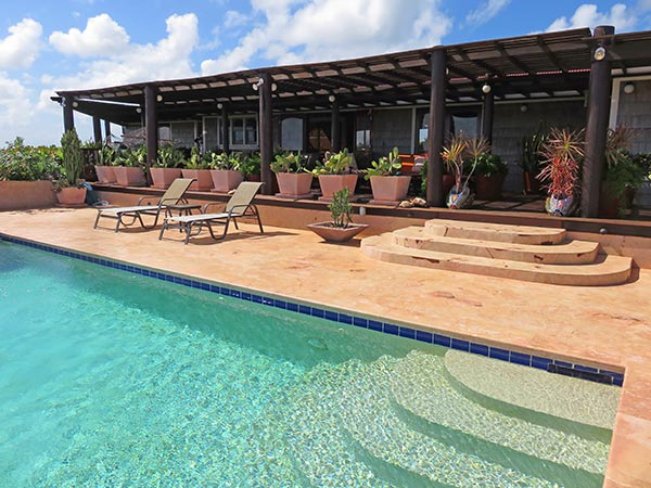 wesley house anguilla with pool in foreground by day