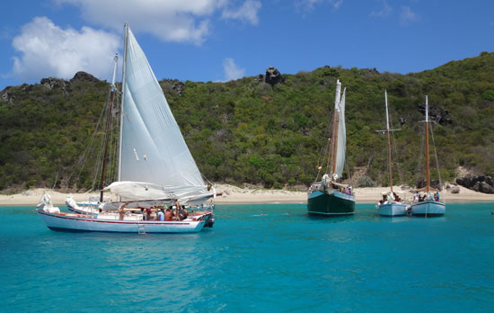 rafting up to anse colombier