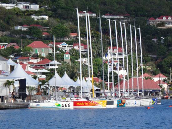 la mondiale racing boat in gustavia
