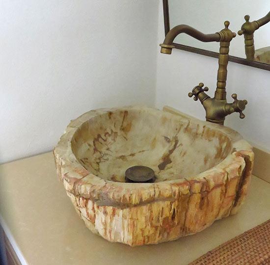 zemi beach hotel room wood sinks