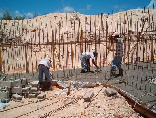 working the Anguilla concrete