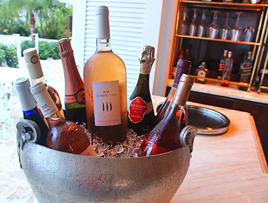 a selection of rose presented by malliouhana sommelier albert lake