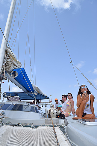 sailing on chocolat in anguilla