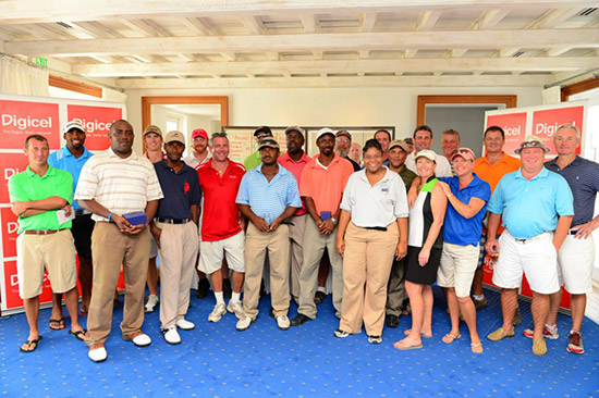 group shot of the first tournament held by anguilla chamber of commerce