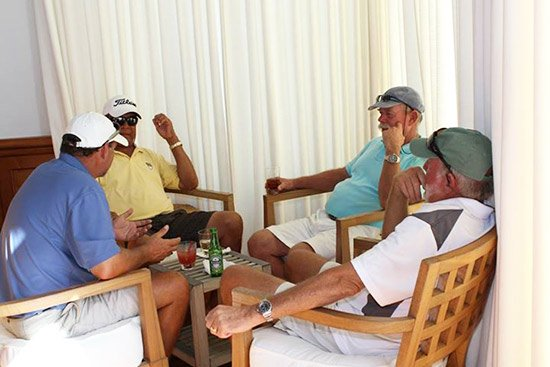 reception after acoci golf tournament in anguilla