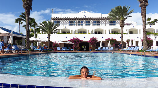 afternoon swim at cuisinarts pool
