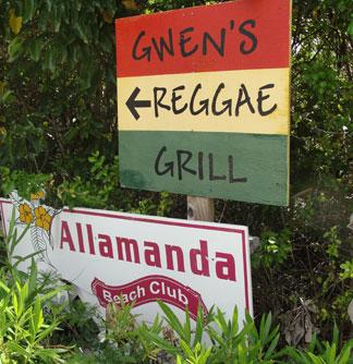 Anguilla hotel, Allamanda Beach Club, Shoal Bay hotels, Gwen's Reggae Grill