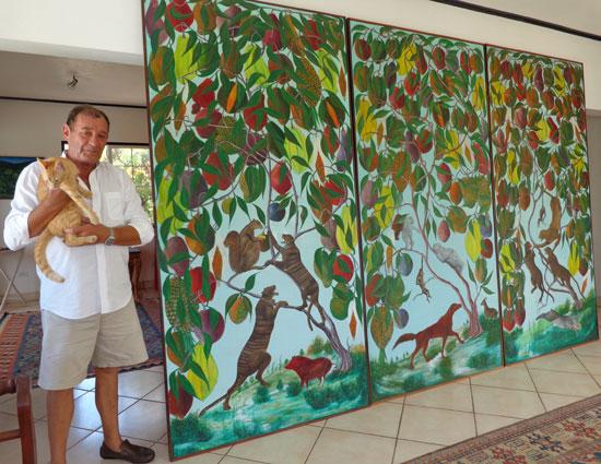 Anguilla art gallery, Pineapple Gallery, Philippe Manasse, Haitian art