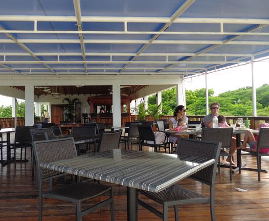 Ocean Echo, dining room, Anguilla beach restaurant