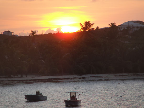 Anguilla beaches, Island Harbour, sunset