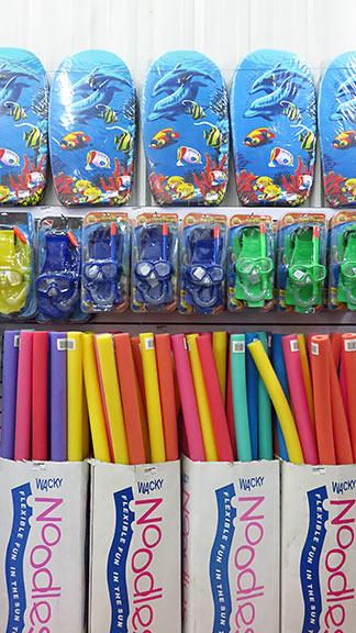 beach products at mega savers