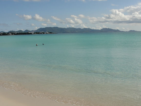 Anguilla beaches, Rendezvous Bay, sea