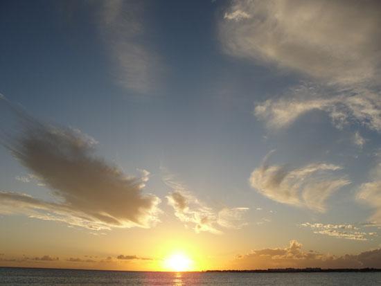Anguilla beaches, sunset