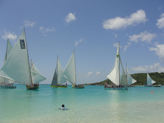 Anguilla beaches, Sandy Ground, boatrace