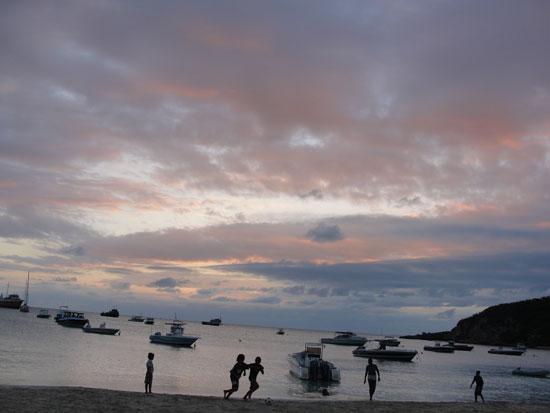 Anguilla beaches, Sandy Ground, kids
