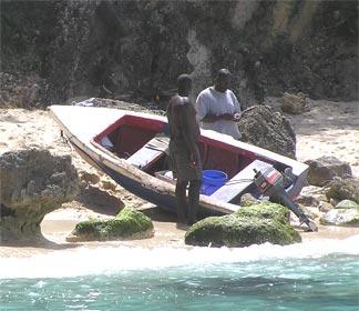 Fisherman on Little Bay