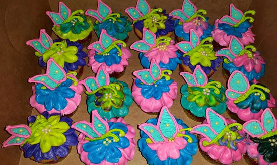 beautiful butterfly cupcakes