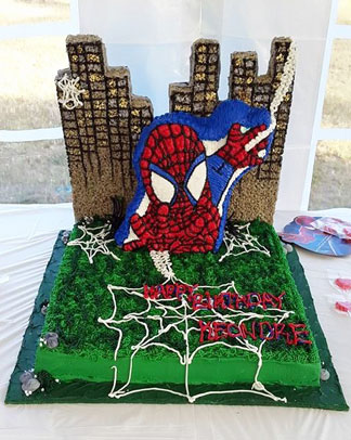 spiderman theme caked from cake divas