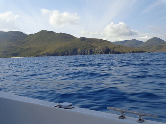 french side of st. martin from the sea