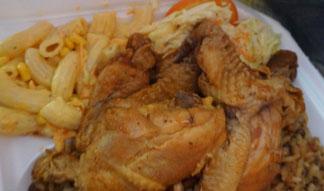 stew chicken at coconos