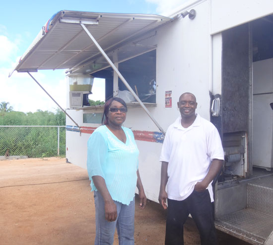 laurell richardson and chef guy gumbs of hunters food van