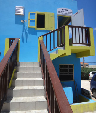 entrance to anguilla's little curry house