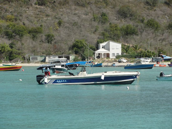 Anguilla diving, Special 'D' Diving, Sandy Ground, boat