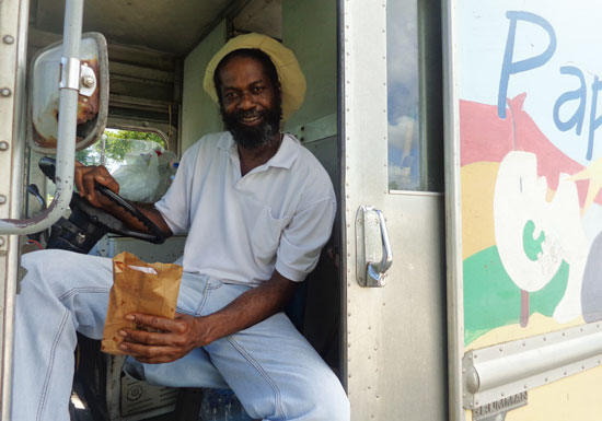 Anguilla food, Anguilla food van, Papa Lash food van, The Valley, vegetarian