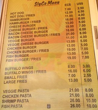 slyco food van menu