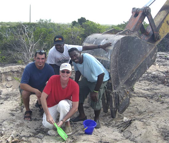 Breaking ground on Anguilla construction